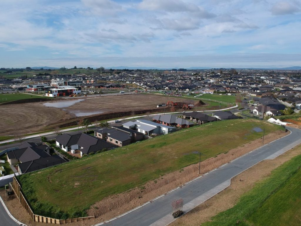 Housing development with building sites